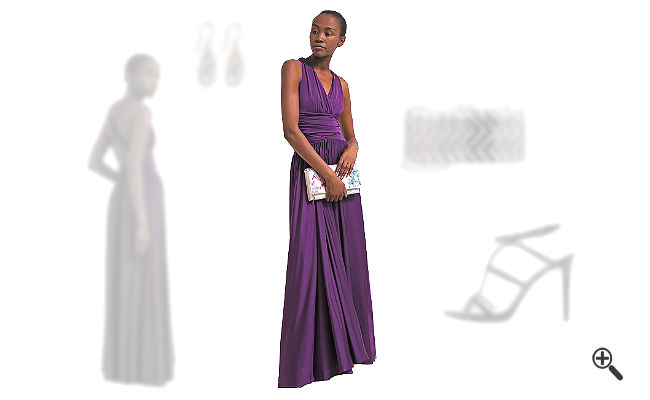 LilaAbendkleid kombinieren Lila Outfits