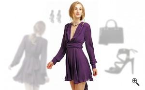 LilaKleid Kurz kombinieren Lila Outfits