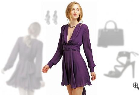 LilaKleid in Kurz kombinieren + 3Lila Outfits für Dina