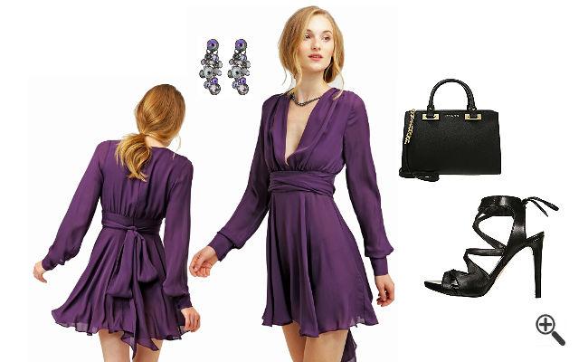Lila Kleid In Kurz Kombinieren 3 Lila Outfits Fur Dina Kleider Gunstig Online Bestellen Kaufen Outfit Tipps