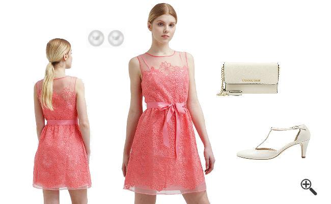 Rosa Cocktailkleid Kurz kombinieren Rosa Outfits