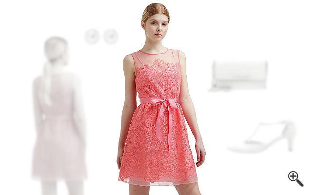 Rosa Cocktailkleid kombinieren Rosa Outfits
