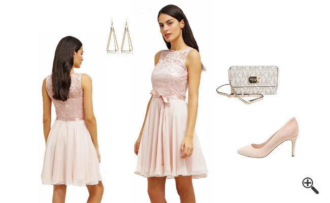 Rosa Kleid KurzkombinierenRosa Outfits