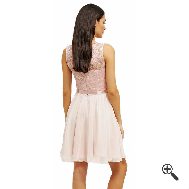 Rosa Kleid Kurzkombinieren