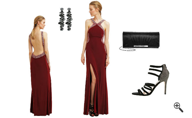 Rotes Abendkleid Lang kombinieren Rote Outfits