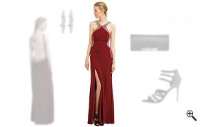 Rotes Abendkleidkombinieren Rote Outfits
