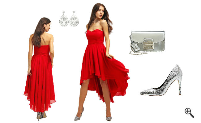 Rotes Cocktailkleid Kurzkombinieren Rote Outfits
