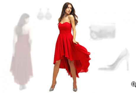 Rotes Cocktailkleid kombinieren Rote Outfits