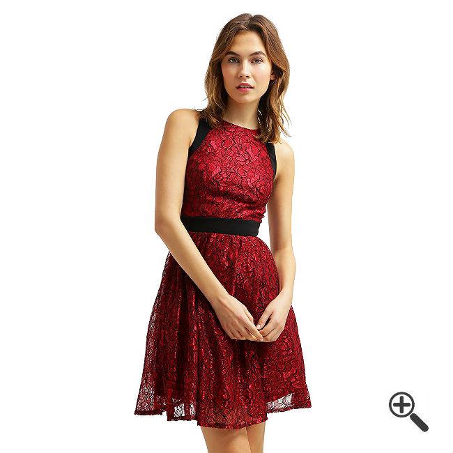 Rot Kleid Kurz