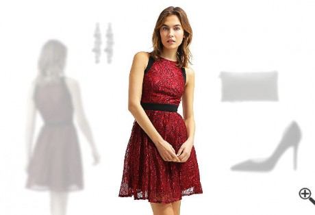 Rotes Kleid kombinieren Rote Outfits