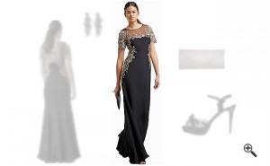 Schwarzes Abendkleid Langkombinieren Schwarze Outfits