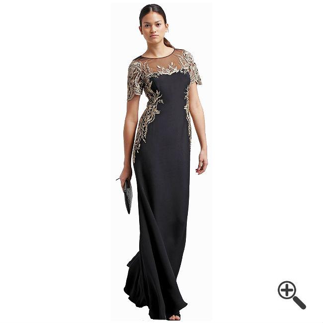 Schwarzes Abendkleid Langkombinieren