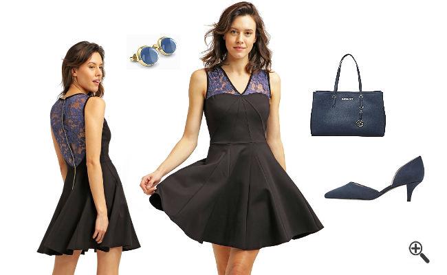 Schwarzes Cocktailkleid KurzkombinierenSchwarze Outfits