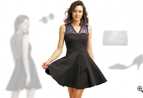 Schwarzes CocktailkleidkombinierenSchwarze Outfits