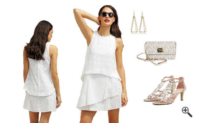 Weiße Kleider Empire Stil Outfit Ideen