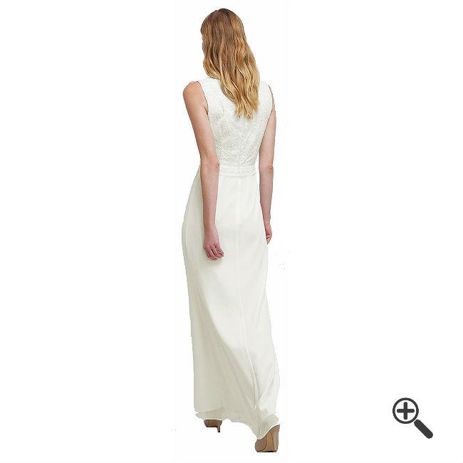Weißes Abendkleid Langkombinieren