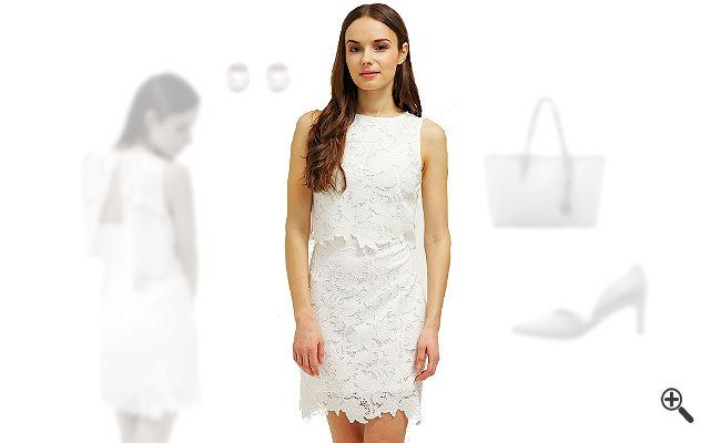 Weißes CocktailkleidkombinierenWeiße Outfits