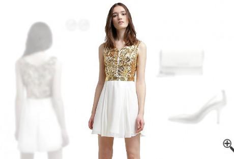 Weißes Kleid in kurzkombinieren + 3Weiße Outfits für Inna