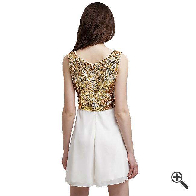 Weißes Kleid kurz kombinieren