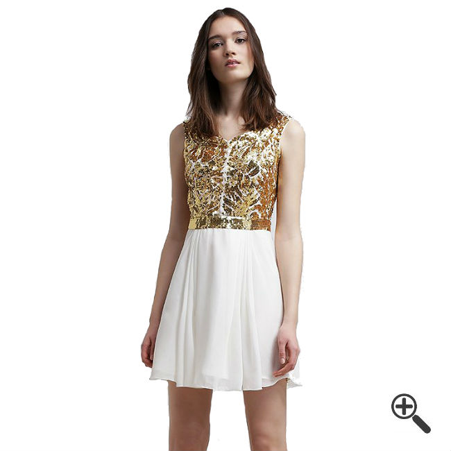 Weißes Kleid kurz