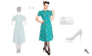 Kleider 60er Stil Rockabilly Outfit Ideen