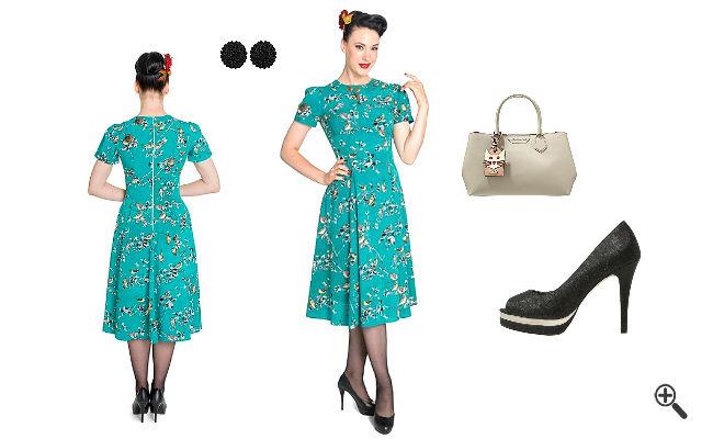 Kleider 60er Stil kaufen Rockabilly Outfit Ideen