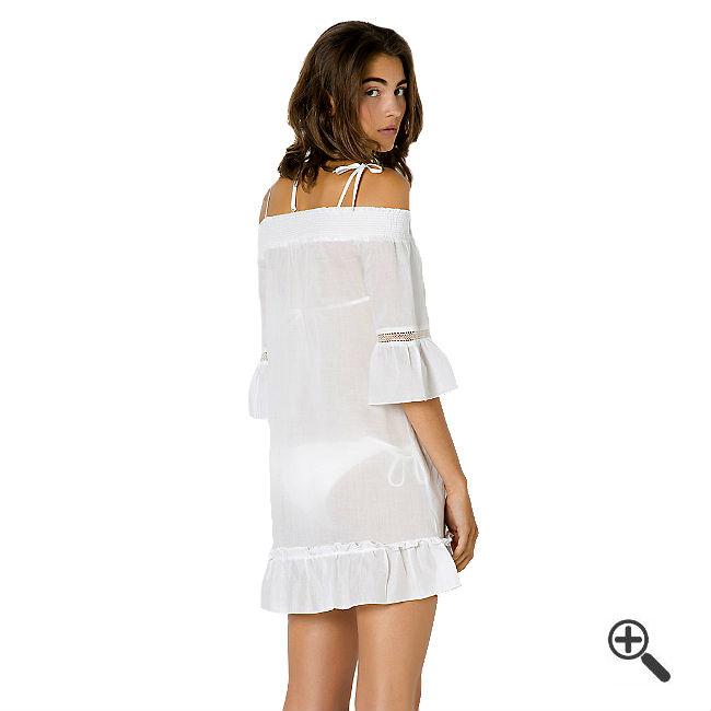 Weiße Strandkleider kurz