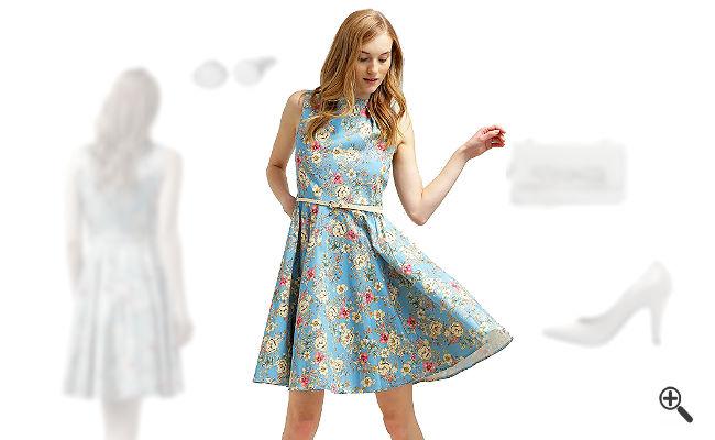 Festliches Sommerkleid Hochzeit Outfit Ideen