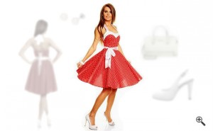 Rockabilly Kleid 50er Outfit