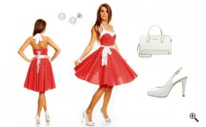 Rockabilly Kleid Rot 50er Outfit