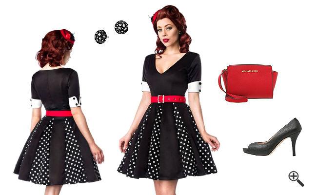 Rockabilly Kleid Schwarz 50er Outfits