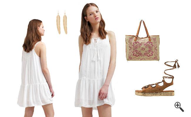Weiße Strandkleider Sommer Outfits