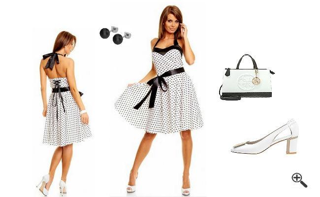 Petticoatkleid Weiß50er Outfit Ideen