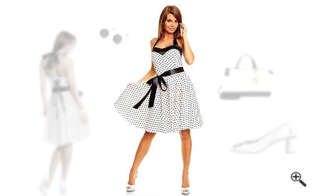 Petticoatkleid Weiß50er Outfit