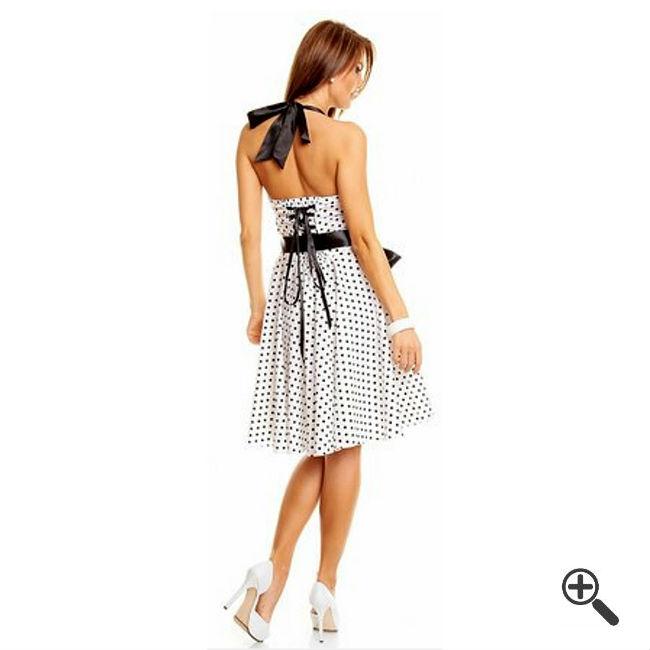 Petticoatkleid Weiß50er