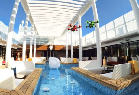 Ferngesteuerte Drohne mit live Kamera